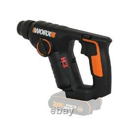WORX WX394.91 18V (20V MAX) Cordless 1.5Kg Rotary Hammer Drill BODY ONLY