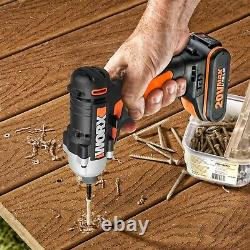 WORX WX938 18V (20V MAX) Cordless Impact Driver and Hammer Drill Twin Pack
