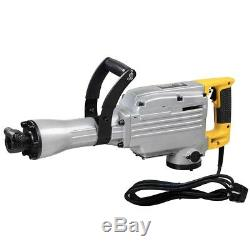 1800w Electric Breaker Démolition De Béton Marteau Jackhammer Jack Drill Tool Kit
