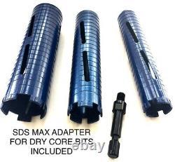 1'', 1,5 (1 1/2'') Et 2 Diamond Core Bit Avec Perceuse À Marteaux Sds Max Adapter Hilti