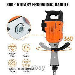 3600w Démolition Électrique Jack Hammer Punching Trenching À 360° Pivotant 2 Bit De Chisel