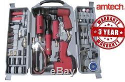 77pc Air Tool Kit Impact Gun Grinder Clé Marteau-burineur Compresseur Die Stockage