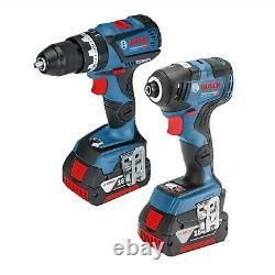 Bosch 18v Brushless Gsb18v-60c Combi Hammer Drill Gdr18v-200 Impact Driver Lboxx