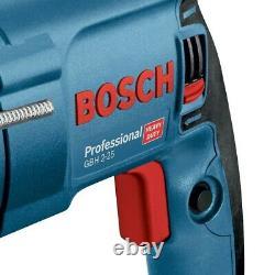 Bosch Gbh225d 240v Sds + Sds Plus Perceuse À Marteau Rotatif + Sds Bits Chisel + Chuck