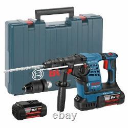 Bosch Gbh 36 Vf-li 36v Plus Li-ion Sans Fil Sds Plus Hammer Drill 2 X 4ah Batt