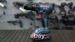 Bosch Gsb 18v-55 Brushless Combi Marteau Perforateur 2 X 2.0ah Batteries