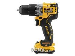 Dewalt Dcd706d2 12v Xr Brushless Compact Combi Hammer Perceuse 2 X 2.0ah Batterie
