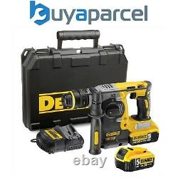 Dewalt Dch273p2 18v Xr Sds+ Forage De Marteau Rotatif Sans Brosse + 2 X 5.0ah Batteries
