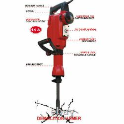 Electric Jack Hammer Concrete Breaker Travaille Avec Dewalt Makita Bosch Accessories