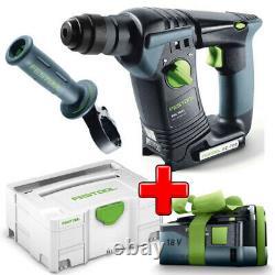 Festool Akku-bohrhammer Hammer Bhc 18 Li-basic IM Systainer + Handgriff 574723