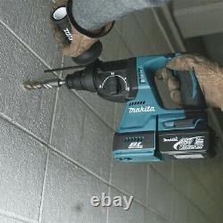 Macita Dhr242z 18v Lxt Sds Foret De Marteau Rotatif + Adaptateur Sans Clé