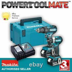 Makita 18v Dlx2283tj Kit Sans Brosse Dhp485 Hammer Drill + Dtd153 Impact Driver
