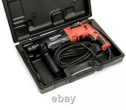 Makita 240v Sds + 3 Mode Rotatif Hammer Drill 26mm + 5 Sds Bits Chisel + Chuck