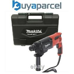 Makita 240v Sds + 3 Mode Rotatif Hammer Drill 26mm Comprend Carry Case Hr2470