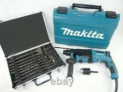 Makita Bohrhammer Kombihammer Hr2630 X7 + 13mm Bohrfutter - Meißel Bohrer Set
