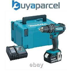Makita Dhp482rf 18v Lxt Combi Hammer Perceuse 1 X 3.0ah Batterie + Chargeur