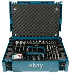 Makita Dhp482sa 18v Cordless Combi Hammer Drill + 66 Piece Screwdriver Bit Set