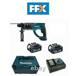 Makita Dhr202rmj 18v 2x 4ah Li-ion Sds Plus Hammer Drill 20mm Kit