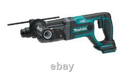 Makita Dhr241z Sans Fil 18v Li-ion Rotative Hammer Drill Body Only Free Ems