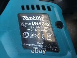 Makita Dhr242z 18v Li-ion Sans Fil Sans Brosse Sds+ Foret À Marteau Rotatif+ 3.0ah Chauve-souris