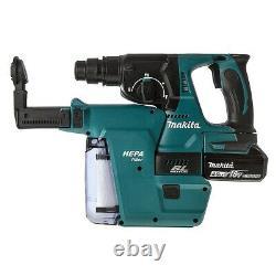 Makita Dhr242z 18v Lxt Sds Rotatif Hammer Drill 17pc Bit Set Chisel Keyless Chuck