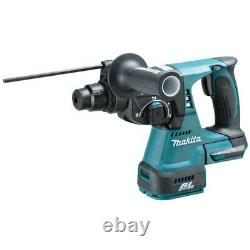 Makita Dhr242z 18v Lxt Sds Rotatif Hammer Drill + Bits Chisel Chuck + Makpac Case