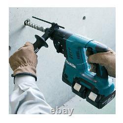 Makita Dhr263zj 36v (2)18v Cordless Sds Hammer Drill Dhr263 + 2 Bl1840 Batteries