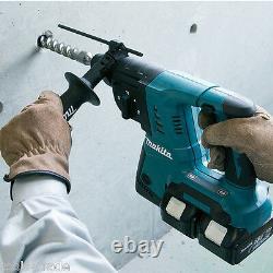 Makita Dhr263zj Twin 18v Sds+ Rotative Hammer Body Uniquement Dans Makpac Type 4 Case