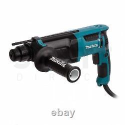 Makita Hr2630 Rotary Sds Plus Hammer Drill 240v + Adaptateur Sds & Chuck Sans Clé
