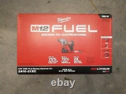 Milwaukee 2416-21xc M12 Fuel 12v 5/8-inch 4.0ah Sds-plus Kit De Marteau Rotatif Nouveau
