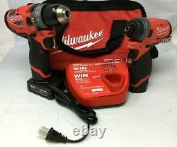 Milwaukee 2598-22 Fuel 1/4 Hex Impact Driver 1/2 Hammer Drill Ln