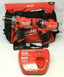 Milwaukee 2598-22 Fuel Brushles 1/4 Hex Impact Driver 1/2 Hammer Drill, Gl197