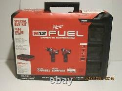 Milwaukee 2598-22po, Packout M12 Fuel 2 Outils Hammer Drill Impact Driver Kit Nsb