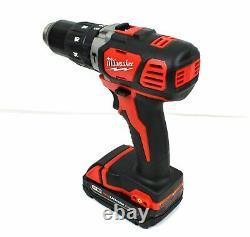 Milwaukee 2607-20 M18 V18 Compact 1/2 En Hammer Drill Avec Batterie 1.5ah & Chargeur