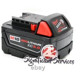 Milwaukee 2804-20 M18 18v Fuel 1/2 Hammer Drill Lithium Ion 5.0 Ah Batteries