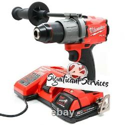 Milwaukee 2804-20 M18 18v Fuel 1/2 Lithium Ion 2.0 Ah Hammer Drilling / Driver Kit