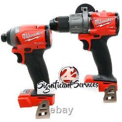 Milwaukee 2853-20 2804-20 M18 Fuel Cordless Impact Driver 1/4 Hammer Drill 1/2