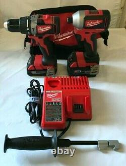 Milwaukee 2893-22cx M18 Brushless 2-tool Hammer Drill/impact Combo Kit, Gr