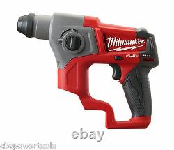 Milwaukee M12ch-0 M12 Fuel Compact Sds 2 Mode Hammer Body Seulement