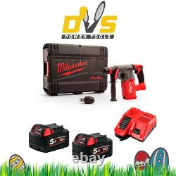 Milwaukee M18chx-0 M18 Fuel Sds+ Hammer Drill 2 X 5ah Batteries, Chargeur Case