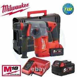 Milwaukee M18chx-502x 18v Fuel Brushless Sds+ Forage De Marteau + 2x 5.0ah Batteries