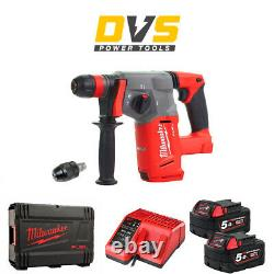 Milwaukee M18chx-502x M18 Fuel Sds+ Hammer 2x5.0ah Batteries, Chargeur, Dynacase