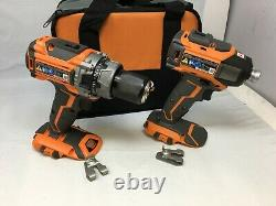 Ridgid9205 Brushless 18v Cmpct Hammer Perceuse/conducteur +3spd Impct Driv Kit N