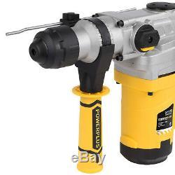 Sds + Bohrhammer Bohrmaschine Schlagbohrhammer 1600 W + Bohrer + Meißel + Koffer