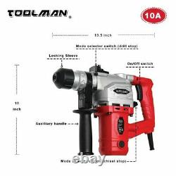 Toolman Electric Power Rotary Hammer Drill Driver 10 Ampère Pour Corde Lourde