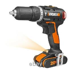 Worx Wx384 18v (20v Max) Sans Brosse Cordless Combi Hammer Drill Avec X2 2.0ah