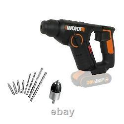 Worx Wx394.91 18v (20v Max) Sans Fil 1.5kg Rotatif Hammer Drill Body Seulement