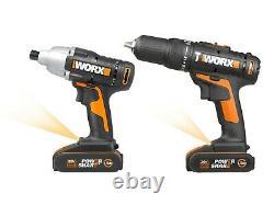 Worx Wx938 18v (20v Max) (20v Max) Driver Impact Driver Et Drammer Pack Twin Pack